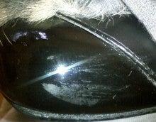 $靴磨き職人のダンディズムブログ-エナメルピンヒール 傷多数 爪先