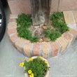 枕木の門柱
