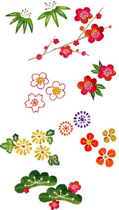 お正月の花イラスト 在宅デザイナーninaのブログ