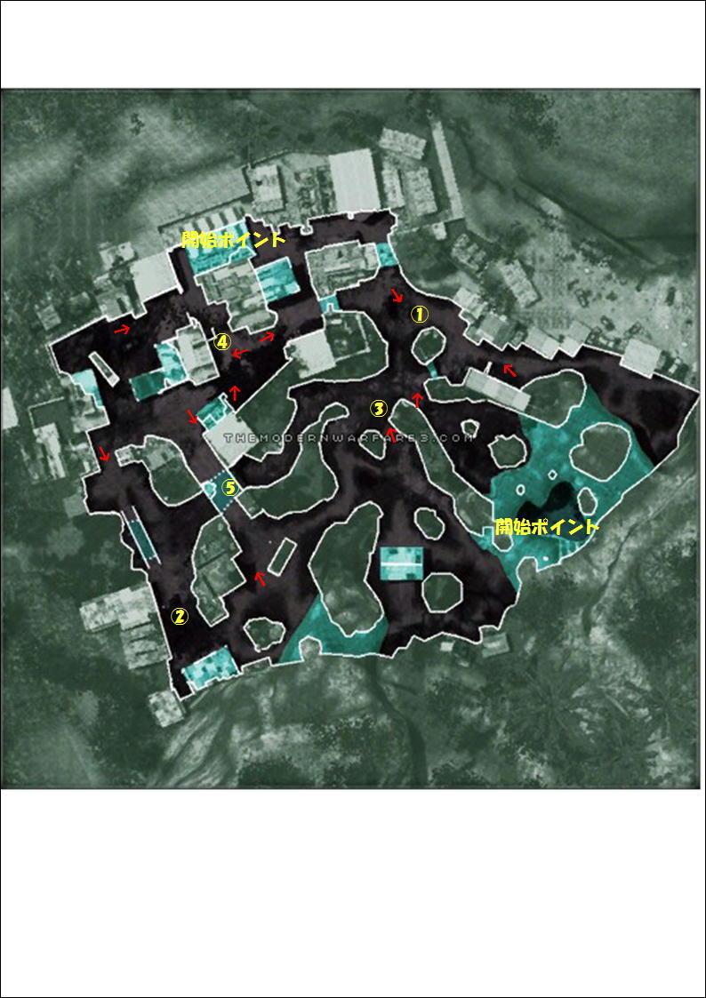 MW3 MAP攻略~VILLAGE~ | あかきちの戦場