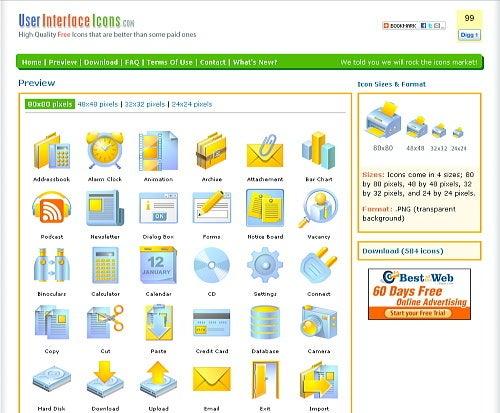 $無料アイコン配布サイトuser interface icons