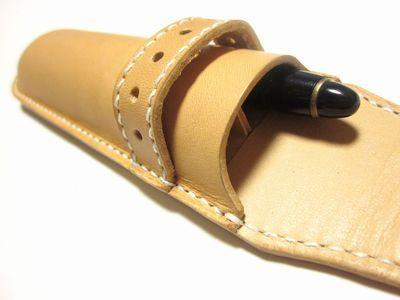 OXIO-CRAFT(オキクラ)の「革雑貨」製作日記-2本仕切り付ドームペンケース