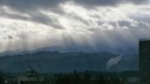 山形大学 西岡研究室の毎日♪-天使の梯子