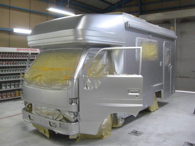 京都の女職人が書く車のブログ☆★-塗装 キャンピングカー