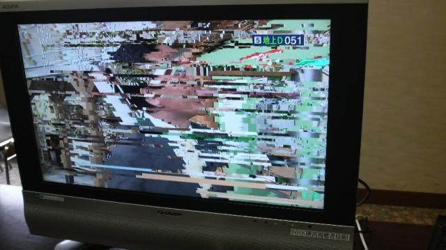 雪や大雨時にテレビ画面にブロッ...