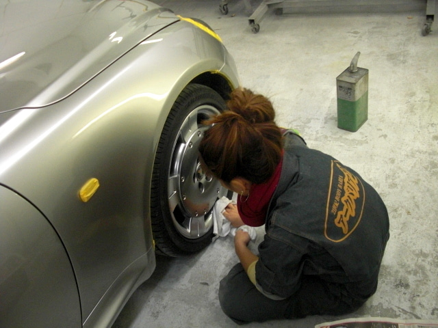 京都の女職人が書く車のブログ☆★-ホイールコーティング