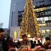 空中庭園と巨大クリスマスツリー(大阪・梅田)の画像
