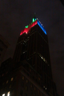 N.Y.に恋して☆-Empire state building 2 on Dec 25, 2011