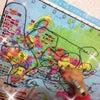 娘ちゃんが地図に描く夢の線の画像