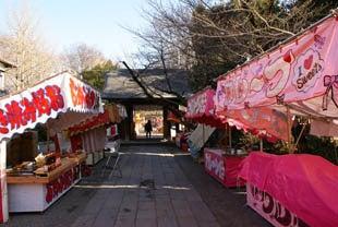 埼玉おもしろマップ-境内に並ぶ数十店の露店