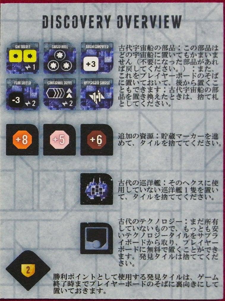 risaのボードゲームレポート-Ecl_発見タイル