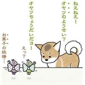 あたち柴犬 抹茶だヨ!  - 伊賀忍者柴犬の道 --120127_1お菓子の妖精