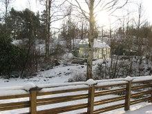$北欧からコンニチワ-雪景色