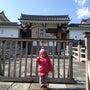駿府城にて