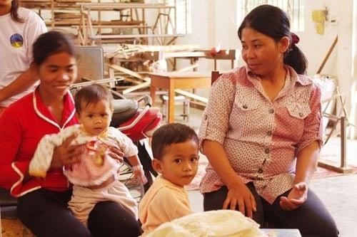 *カンボジアの綿クロマーと赤ちゃん帽子のお店*-ルオンの子供