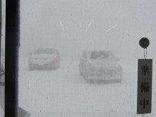 みどりの里山居館のブログ-地吹雪2