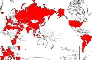 世界地図の色塗り無料ソフトの紹介 はぎーのランキング集 世界遺産