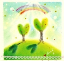 虹色ハートで輝く~Tree of Heart~世界が虹色に輝きますように☆・゜・。・゜