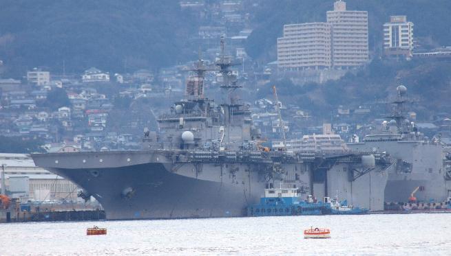 【佐世保海軍基地】 USSエセックス、機械障害でコブラゴールド ...