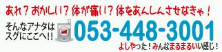 その場で痛みをとる整体! 浜松市 あんしん堂-TEL 053-448-3001