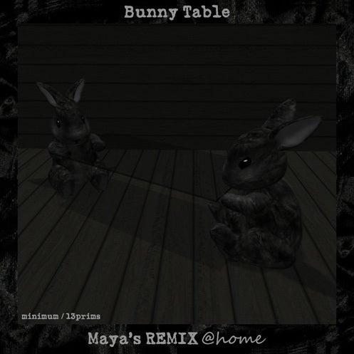 Maya's style / Second Life Fashion-バニーテーブル
