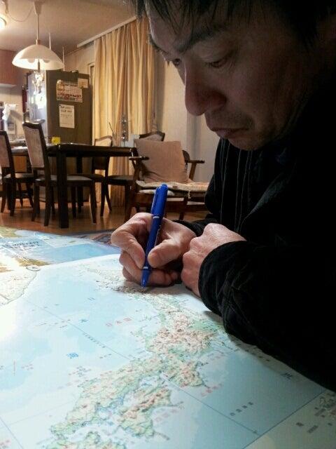 歩き人ふみの徒歩世界旅行 日本・台湾編-ルート描き込み中