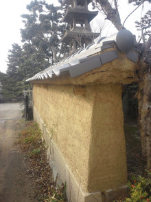住まいの夢をお手伝い-土塀を一から造ったそうです