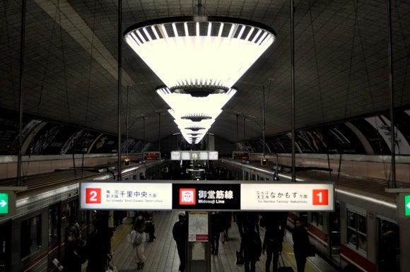 茶々吉とデジ一 のんびり旅-120211_心斎橋駅