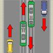 停止中の路面電車