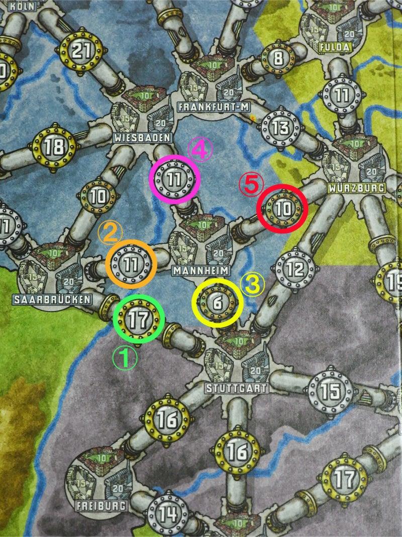 risaのボードゲームレポート-電力_緑ボード