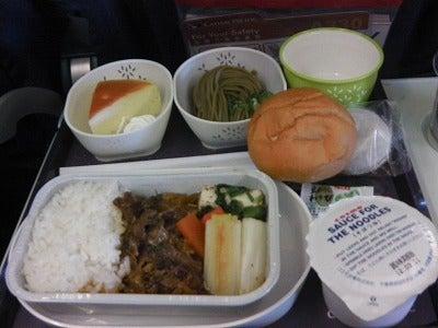 北京大学に短期留学をしました。-機内食