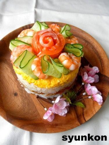 ひなまつりのちらし寿司 と デザート 山本ゆりオフィシャルブログ「含み笑いのカフェごはん『syunkon』」Powered by Ameba