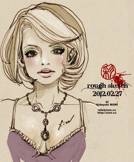 ストリートファッションイラストレーター彩の日記-rough sketch 2012.02.27