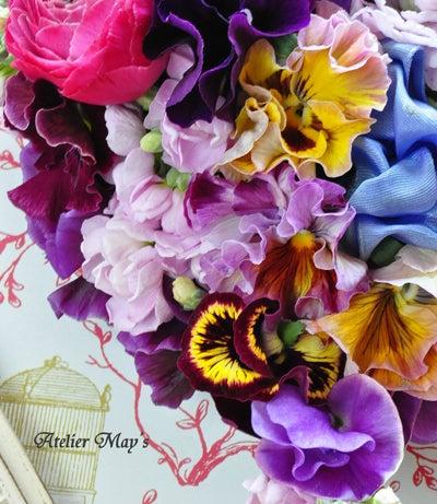 ちょこっとの、嬉しいブログ **  花教室 Atelier May's  **
