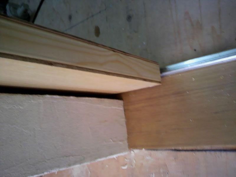 天然木の錬金術師のブログ-チークの敷居8