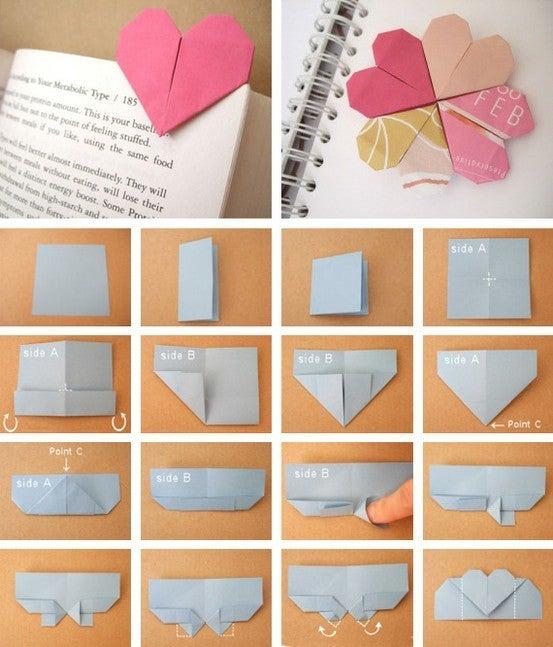 折り紙の 折り紙のハートの折り方 : ameblo.jp