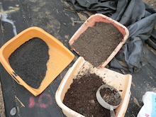 耕作放棄地をショベル1本で畑に開拓!週2日で10時間の野菜栽培の記録 byウッチー-120306育苗用土作り02