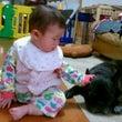 赤ちゃんとワンコ