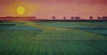 アートテラー・とに~の【ここにしかない美術室】-夕陽