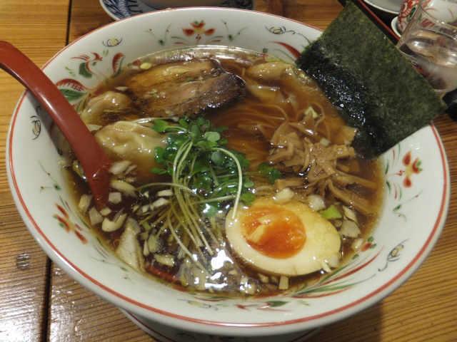 にゃほのラーメン日記(仮)-わんたん麺(醤油味)