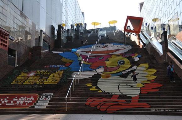 茶々吉とデジ一 のんびり旅-120314_京都駅ビル階段