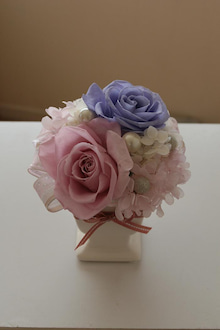 $JOSHURA  FLOWERS-ラベンダーピンク&ブルー