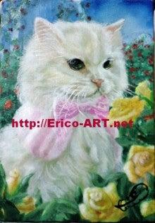 ファンタジー油絵描きErico(エリコ)の動物・ペット肖像画館-チンチラシルバー