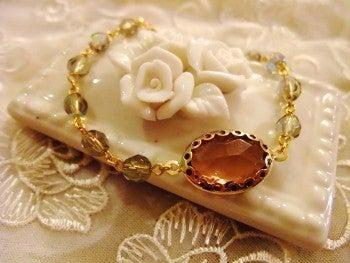 amule アミュレ ~ Handmade life ~-シックな春色のブレスレット