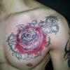 刺青★赤薔薇(胸)カラー!の画像
