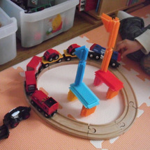 キリンの動物園列車