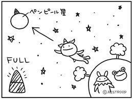 $エストループのキャラクター達 「ぼくジェッチル」スピンオフ絵日記 きっと毎日更新中!!-ペンピール星へ帰還_260