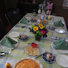 今月のお料理とお客様の画像