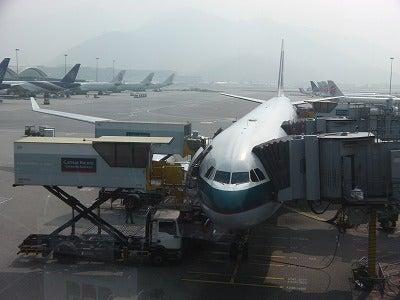 北京大学に短期留学をしました。-キャセイCX500便