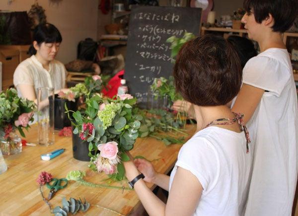 onaka-store-花たばね:レッスン風景2